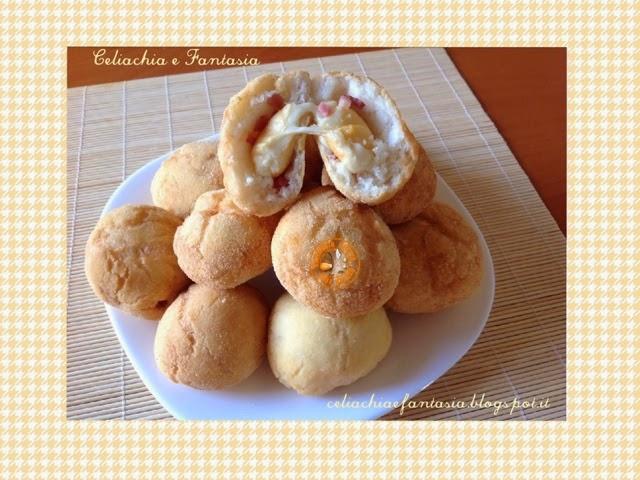 Pallette di pane fritto con speck e scamorza
