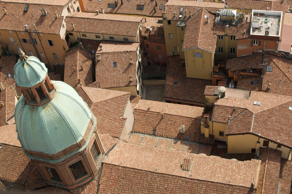 tiles, church, terracotta